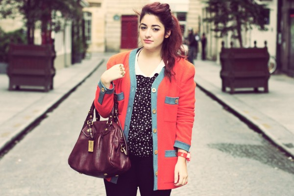 Blazer Chanel et top Col Claudine - Blog Mode