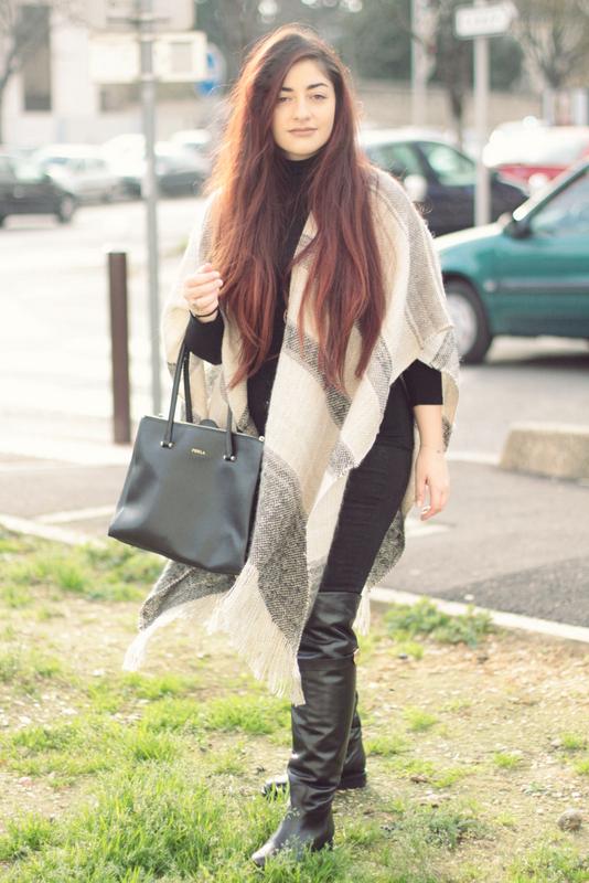 écharpe grise