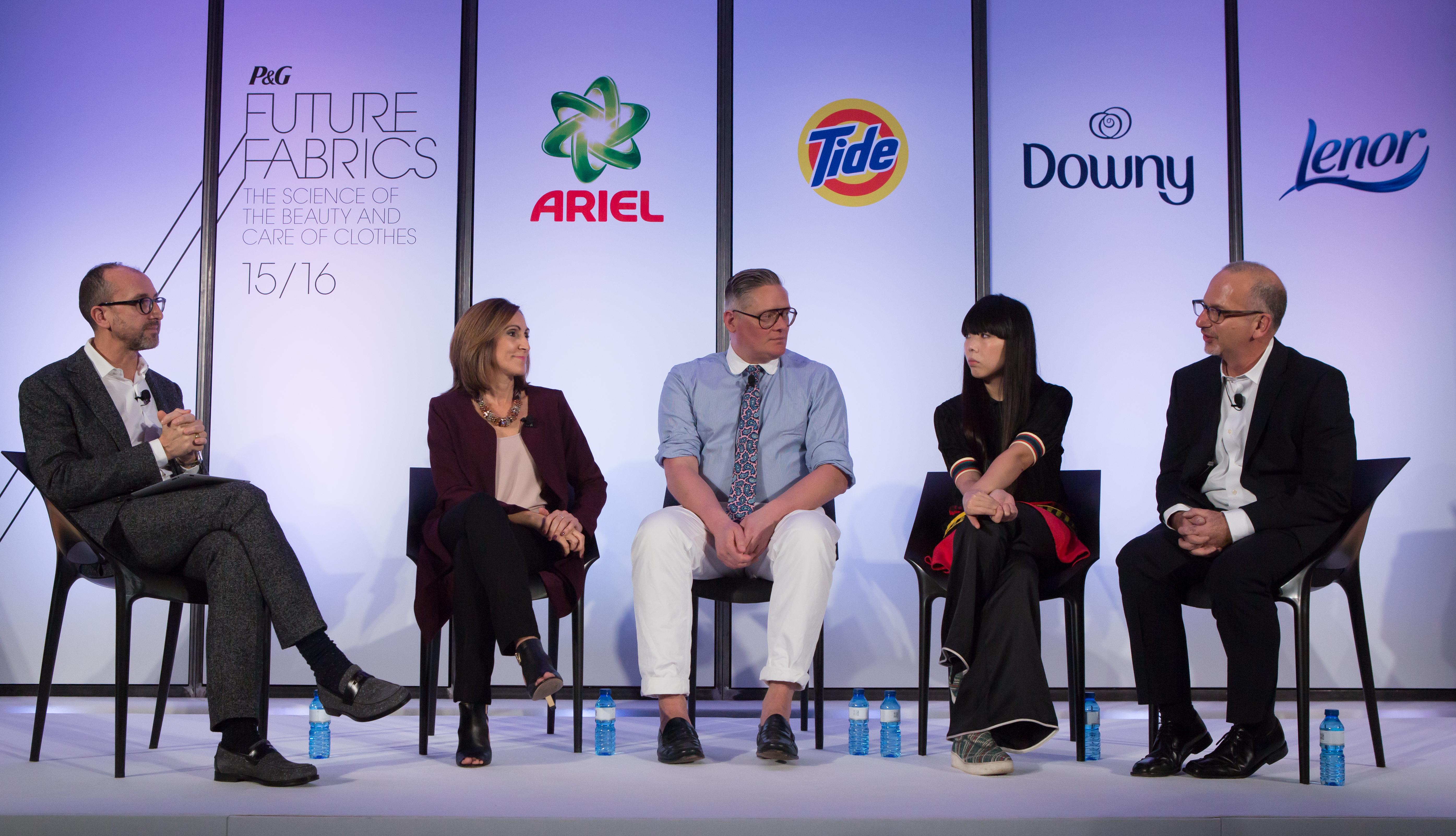 P&G FF 2015 Gianluca Longo, Margarita Bahrikeeton, Giles Deacon, Susie Bubble, Dr Rosenblum