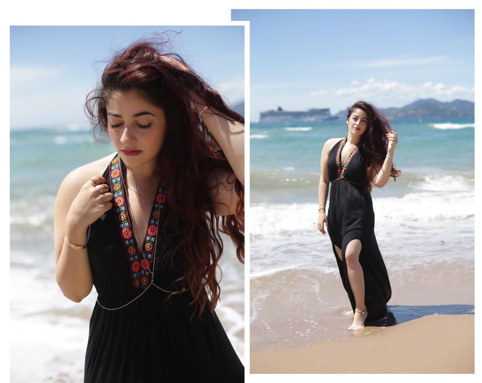 robe de plage fendue