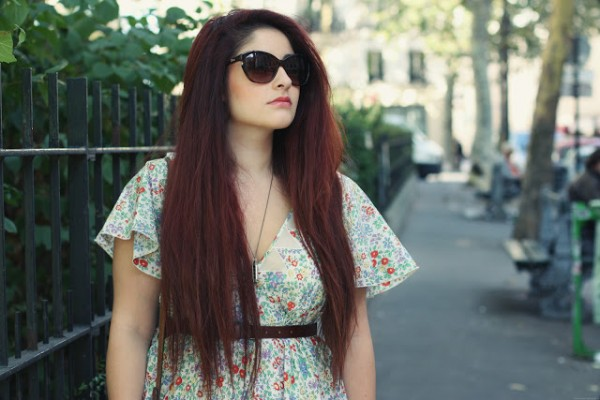 Robe Chloe & Lunettes Dior - Blog Mode