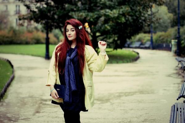 Robe Jean et Veste Jaune - Blog Mode
