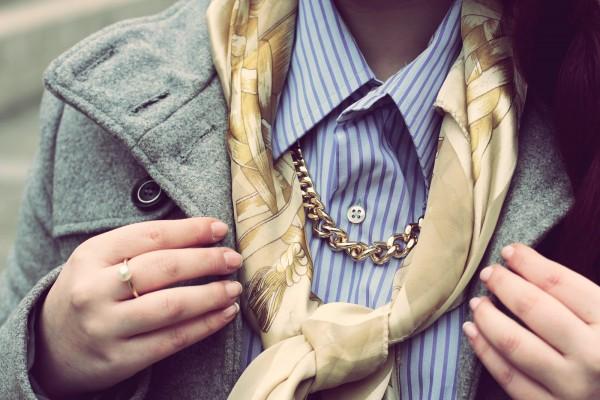 Foulard Hermès & Chemise d'Homme - Blog Mode