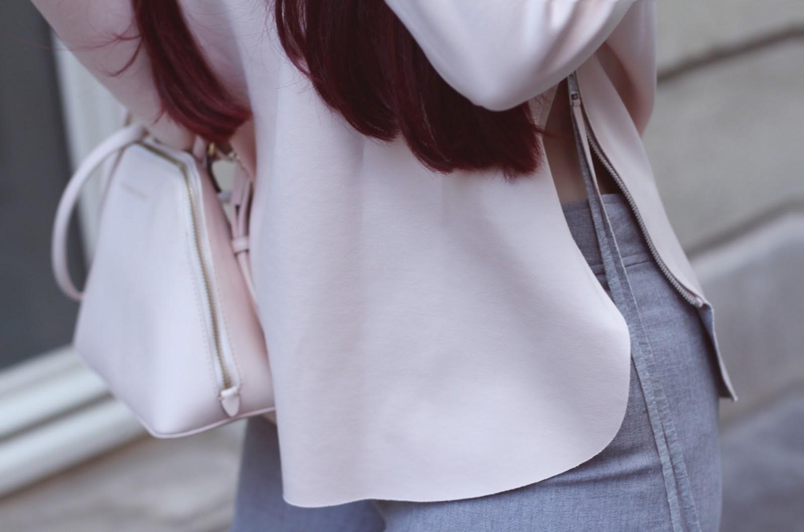 look rose et gris