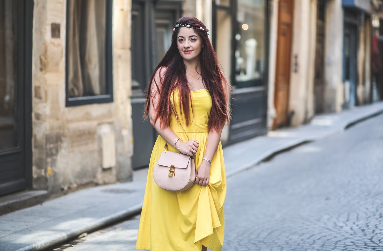 robe jaune poussin
