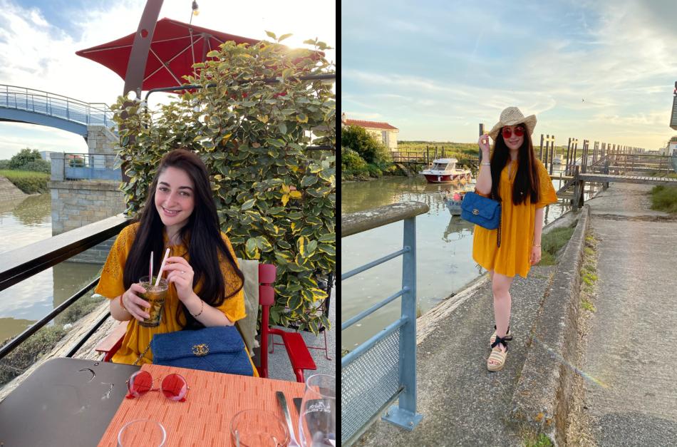 sac chanel robe jaune